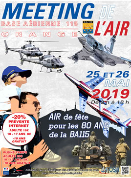 Meeting de l'Air 2019 - Base Aérienne 115 ORANGE